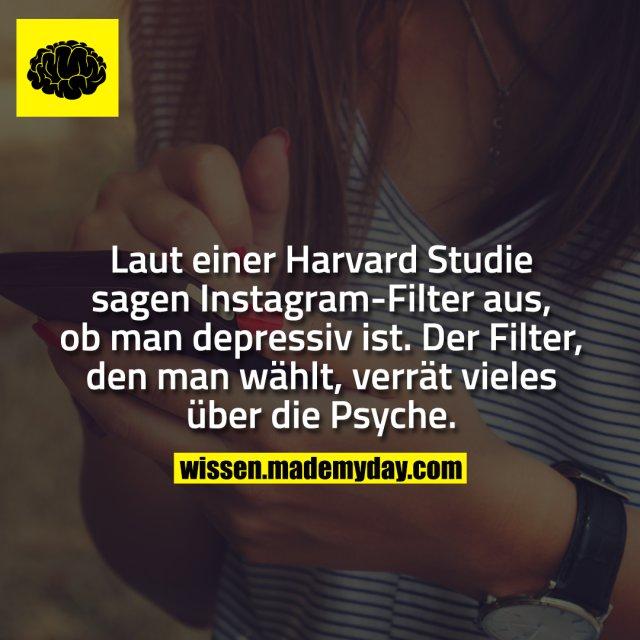 Laut einer Harvard Studie sagen Instagram-Filter aus, ob man depressiv ist. Der Filter, den man wählt, verrät vieles über die Psyche.