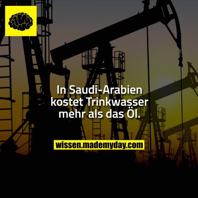 In Saudi-Arabien kostet Trinkwasser mehr als das Öl.