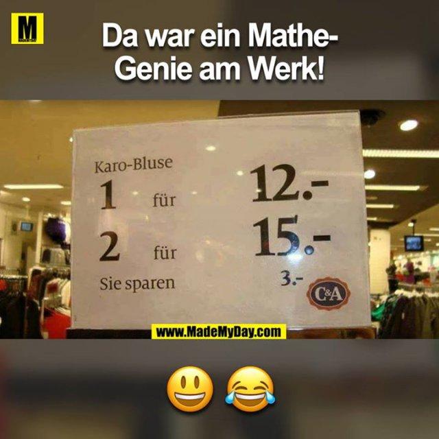 Da war ein Mathe-Genie am Werk!<br /> <br /> ??