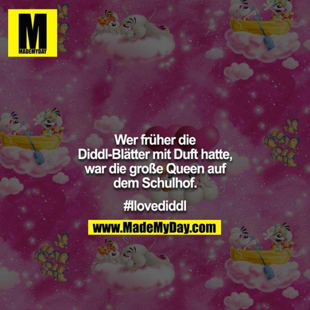 Wer früher die Diddl-Blätter mit Duft hatte, war die große Queen auf dem Schulhof.<br /> <br /> #Ilovediddl