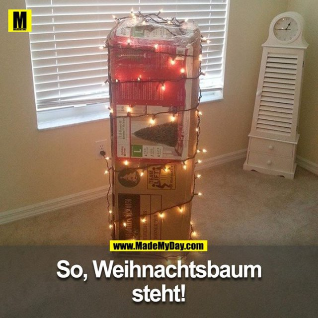 Poste unter dem Beitrag ein Foto deines Weihnachtsbaums.