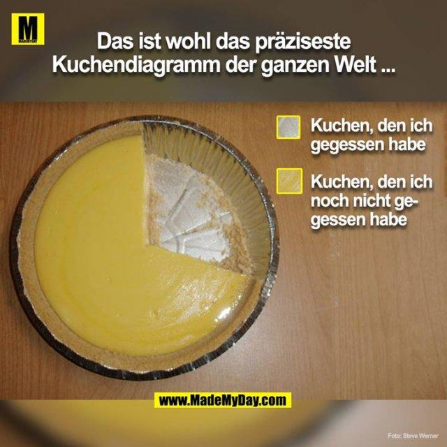 Das ist wohl das präziseste Kuchendiagram der ganzen Welt ....<br />