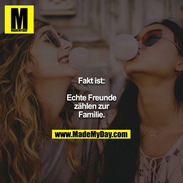 Fakt ist:<br /> Echte Freunde zählen zur Familie.