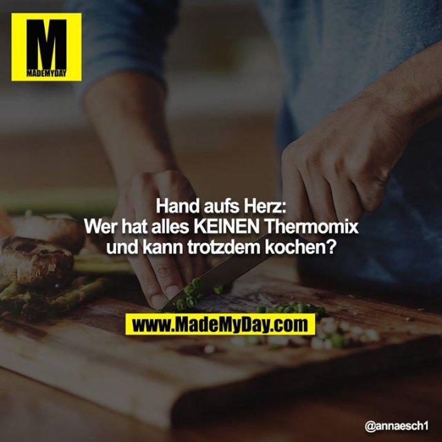 Hand aufs Herz:<br /> Wer hat alles KEINEN Thermomix und kann trotzdem kochen?