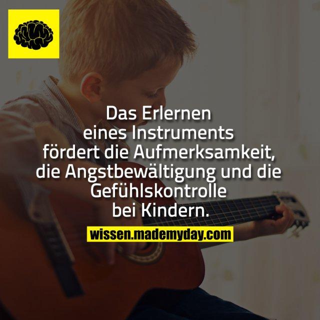 Das Erlernen eines Instruments fördert die Aufmerksamkeit, die Angstbewältigung und die Gefühlskontrolle bei Kindern.