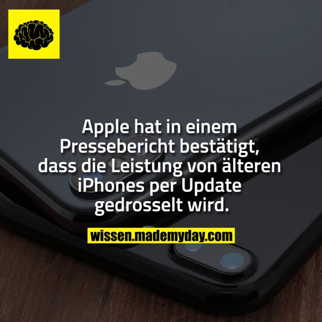 Apple hat in einem Pressebericht bestätigt, dass die Leistung von älteren iPhones per Update gedrosselt wird.