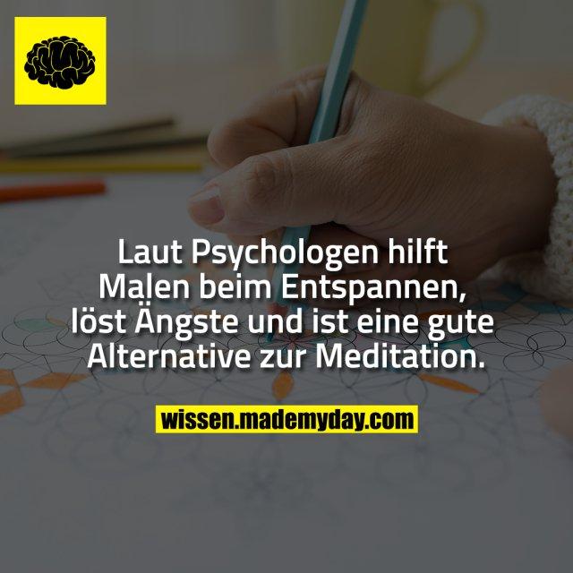 Laut Psychologen hilft Malen beim Entspannen, löst Ängste und ist eine gute Alternative zur Meditation.