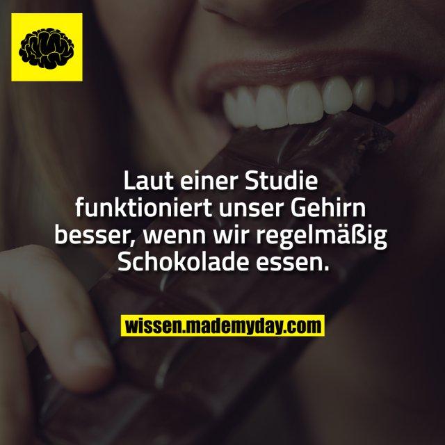 Laut einer Studie funktioniert unser Gehirn besser, wenn wir regelmäßig Schokolade essen.