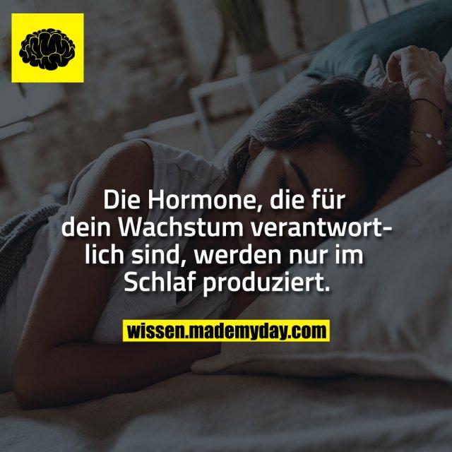 Die Hormone, die für dein Wachstum verantwortlich sind, werden nur im Schlaf produziert.