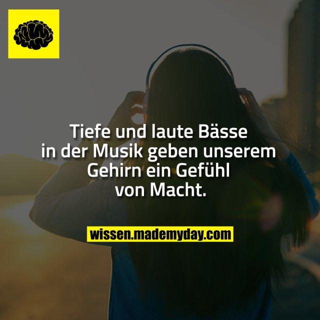 Tiefe und laute Bässe in der Musik geben unserem Gehirn ein Gefühl von Macht.