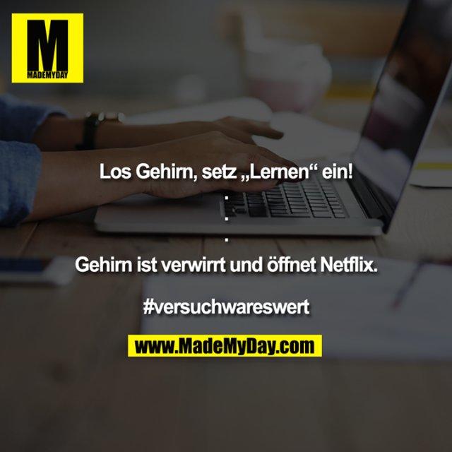 """Los Gehirn, setz """"Lernen"""" ein!<br /> .<br /> .<br /> .<br /> <br /> Gehirn ist verwirrt und öffnet Netflix.<br /> <br /> #versuchwareswert"""