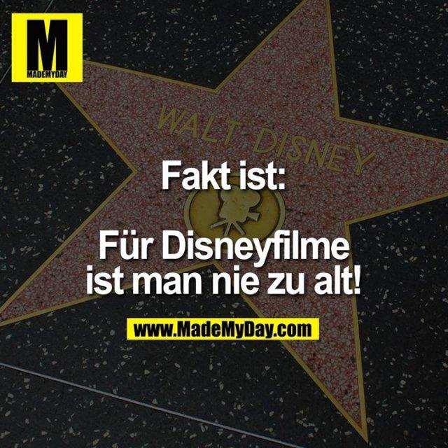 Fakt ist:<br /> <br /> Für Disneyfilme ist man nie zu alt!