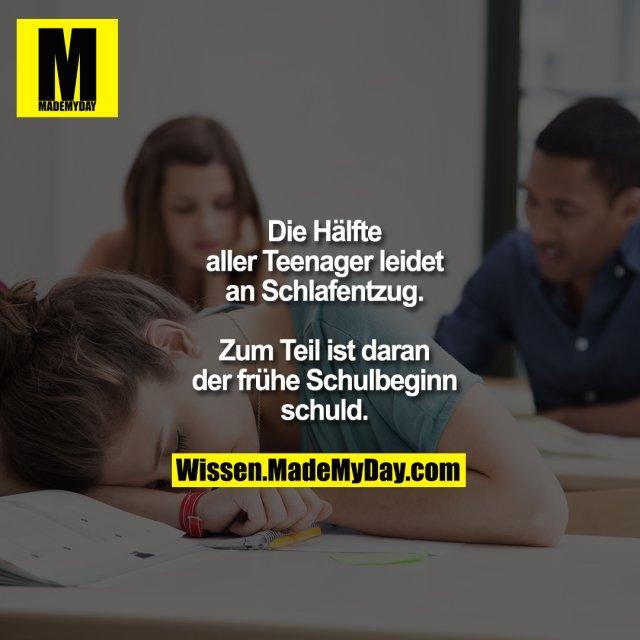 Die Hälfte aller Teenager leidet<br /> an Schlafentzug. Zum Teil ist<br /> daran der frühe Schulbeginn<br /> schuld.