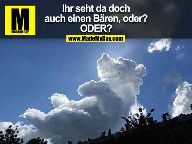 Ihr seht da doch<br /> auch einen Bären, oder?<br /> ODER?