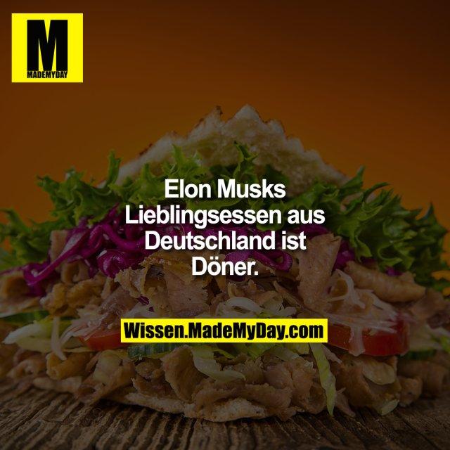 Elon Musks Lieblingsessen aus Deutschland ist Döner.
