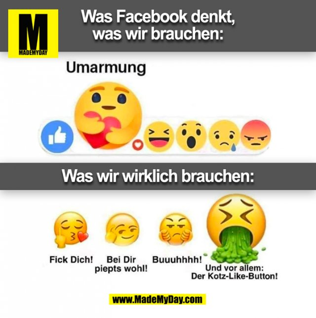 Was Facebook denkt,<br /> was wir brauchen: (BILD)