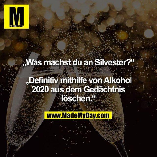 """""""Was machst du an Silvester?""""<br /> <br /> """"Definitiv mithilfe von Alkohol<br /> 2020 aus dem Gedächtnis löschen."""""""