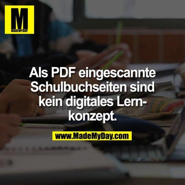 Als PDF eingescannte<br /> Schulbuchseiten sind<br /> kein digitales Lern-<br /> konzept.
