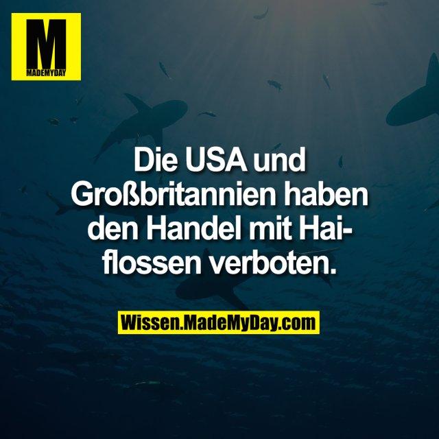 Die USA und Großbritannien haben den Handel mit Haiflossen verboten.