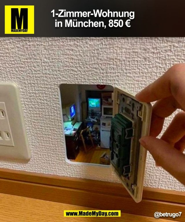 1-Zimmer-Wohnung<br /> in München, 850 €<br /> @betrugo7<br /> (BILD)