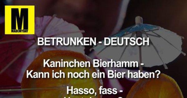 betrunken deutsch